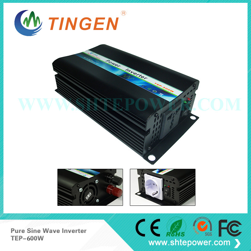 Off-grid DC 12V 24V to AC 110V 120V 220V 230V Pure Sine Wave Power Inverter 600W