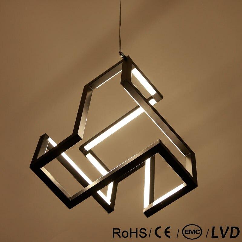 LICAN Nuovo design Moderno LED Lampade a sospensione Per Sala Da Pranzo soggiorno Bianco/Nero Creativo Suspendor Hanging LED Filo lampada a Sospensione