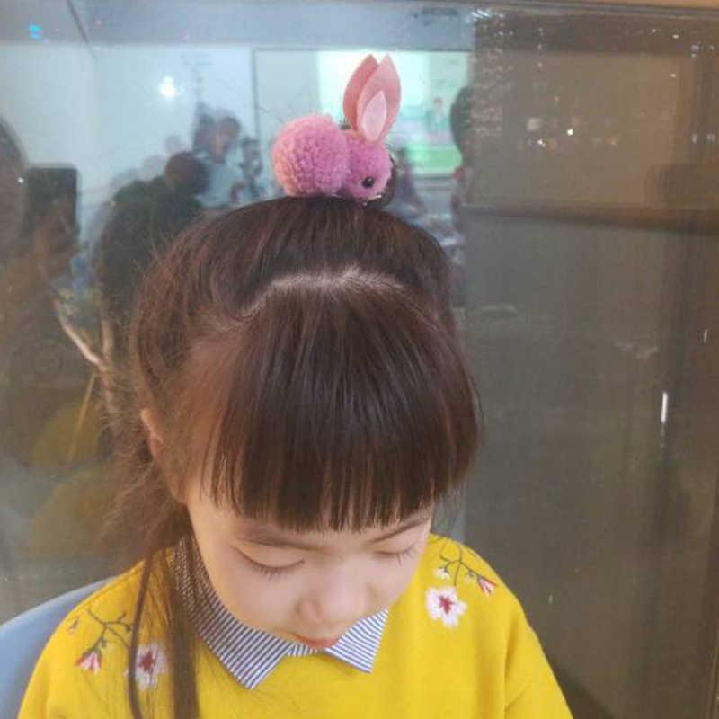 Projeto do Coelho Dos Desenhos Animados páscoa Sentiu Pelúcia Orelhas de Coelho Faixas de Cabelo Headband Para Crianças Meninas festa de Páscoa de Pelúcia Corda Anel de Cabelo