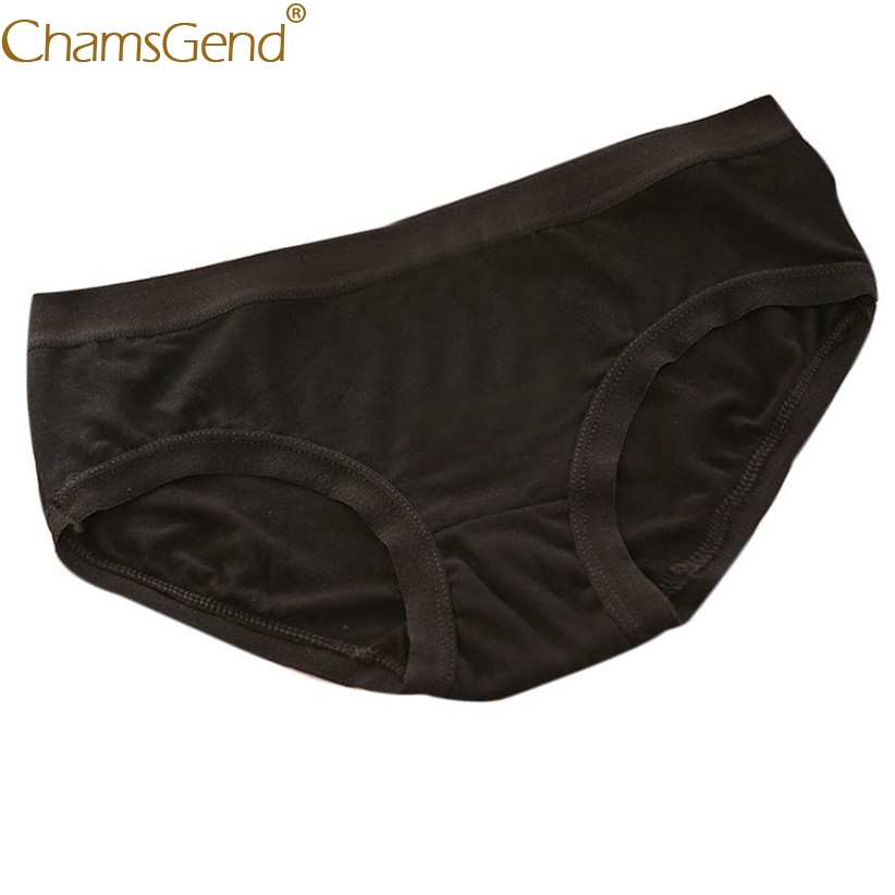 Chamsgend Women Intimates Sexy Hot Underwear Comfortable Breathable Solid Cotton Panties Briefs 80110