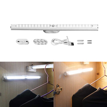 30cm USB Rechargeable LED Cabinet Light PIR Motion Sensor Night Lamp Wireless Kitchen Bedroom Closet Light with Battery