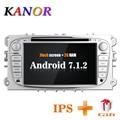 KANOR 1024*600 IPS Android 7,1 2din Radio de coche para Ford Focus 2 Mondeo s-max 2009 2010 2011 Autoradio Multimedia Audio estéreo del coche