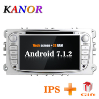 KANOR 1024*600 IPS Android 7.1 2din Car Radio For Ford Focus 2 Mondeo S Max 2009 2010 2011 Autoradio Multimedia Audio Car Stereo