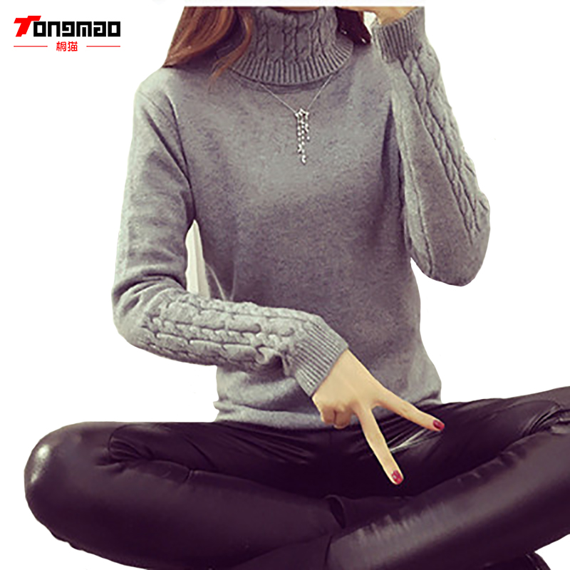 2016 Women Sweaters And Pullovers Hot Sweater Women Winter turtleneck sweater twisted thickening slim pullover sweater