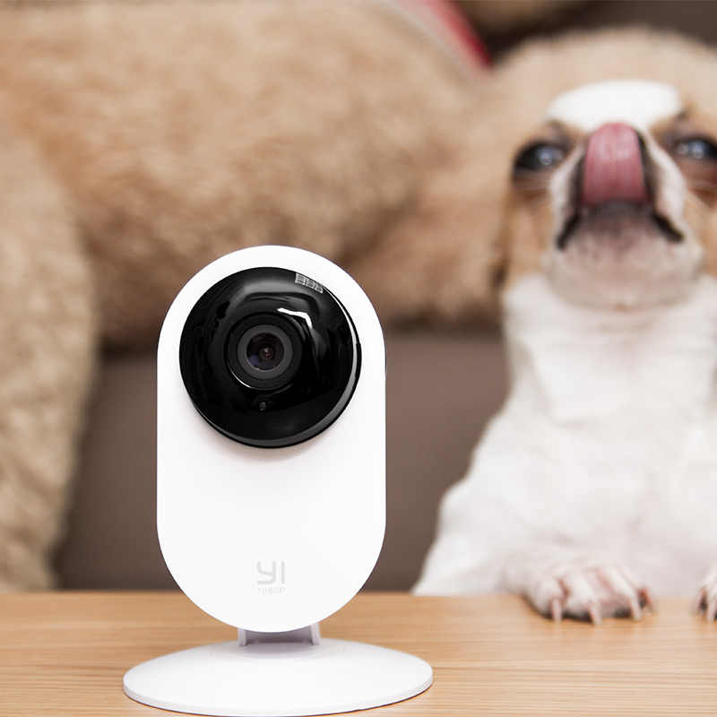 YI 1080p caméra à domicile système de Surveillance de sécurité IP intérieur avec Vision nocturne pour la maison/bureau/bébé/nounou/moniteur pour animaux de compagnie YI Cloud