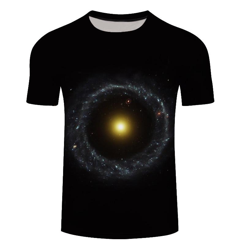 3D Tshirts Men Clothes 2018 Blue Space Planet Print T-shirt Short Sleeve Tee Top Summer Streetwear Plus Size 6XL