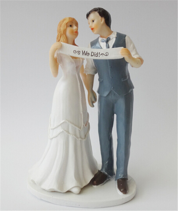 Online Shop Indie Retro Vintage Style Wedding Cake Topper Romantic We Did Do