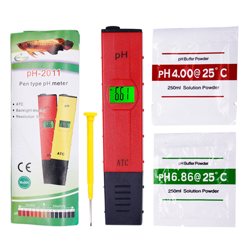 Pen-type Digital aquarium PH meter temperature Compensation ATC LCD Water Quality Acidity Tester for Aquarium with backlight 20% bulk price 5 pieces lots pt093 logic board for canon l100 l150 formatter board original and new officejet printer parts