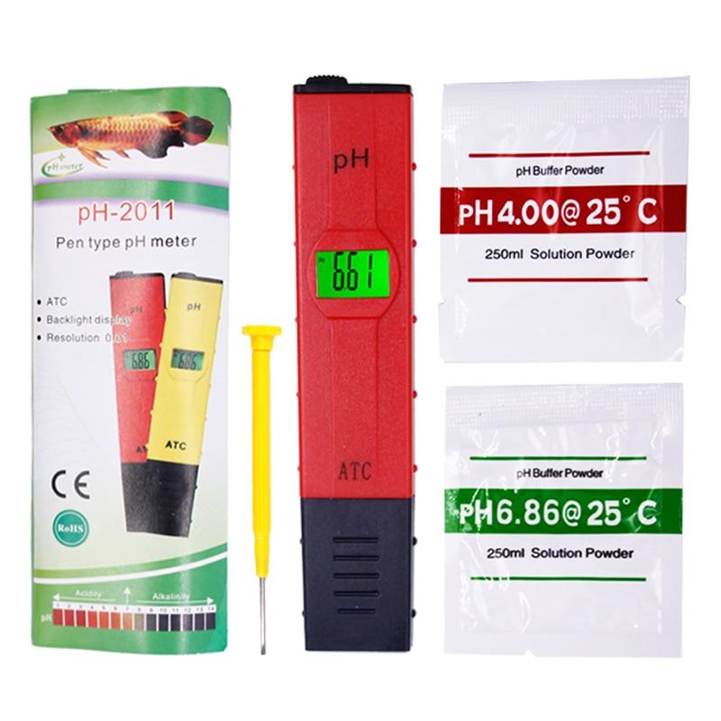 Pen-type Digital Aquarium PH Meter Temperature Compensation ATC LCD Water Quality Acidity Tester For Aquarium With Backlight 20%
