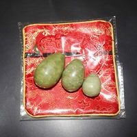 Natural Chinese Xiu Yan Jade Stone Egg For Kegel Exercise 3pcs In One Sets Pelvic