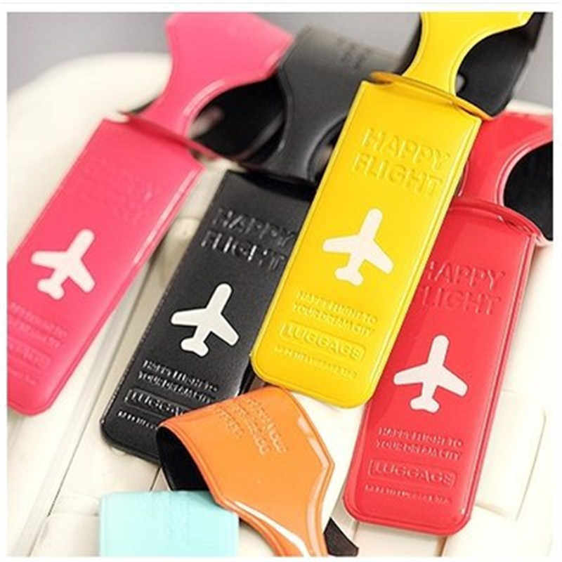 Travel Luggage Tag Practical PVC Suitcase Name ID Address Holder Baggage Boarding Tags Label Cover Travel Accessories