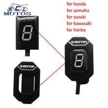 цена на Sclmotos- Motorcycle Gear Indicator Ecu Plug Mount Speed Gear Display Indicator For Honda for Kawasaki for Suzuki for Harley