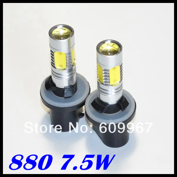 Free shipping 880 led 7.5w High Power Lens LED Constant Currency DC 9v-24v White HeadLight LED Fog Lamp 1w led bulbs high power 1w led lamp pure white warm white 110 120lm 30mil taiwan genesis chip free shipping