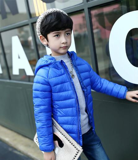 Brand children down jacket Outerwear Boy Girl Winter Warm Down Hooded Coat Teenage kids Jacket Size 5 6 8 9 10 12 13 years