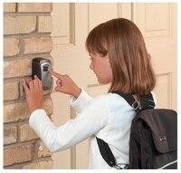 4 Digit Wall Mounted Combination Password Keys Hook Organizer Boxes Outdoor Safe Key Box Key Storage