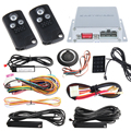 DC12V PKE car alarm system with touch password entry, remote engine start/stop and push button start stop, remote lock unlock