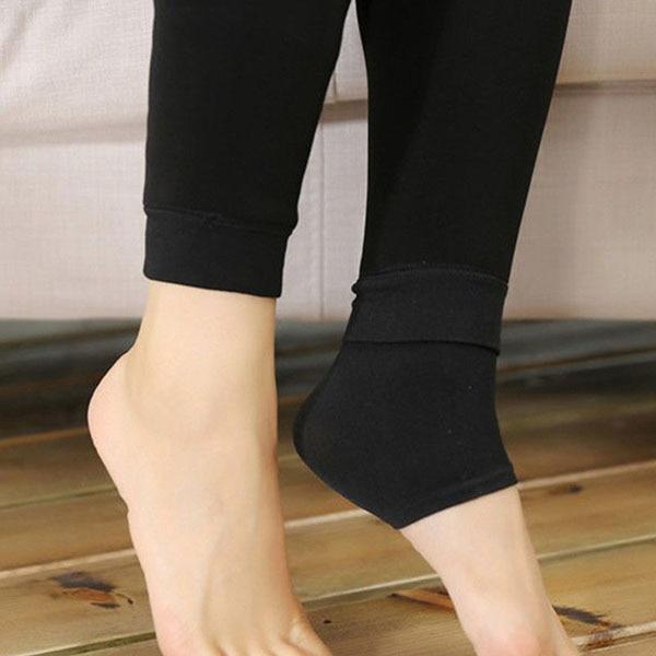 Осенне-зимние модные женские теплые флисовые зимние тянущиеся леггинсы с теплой флисовой подкладкой, тонкие теплые штаны BFJ55