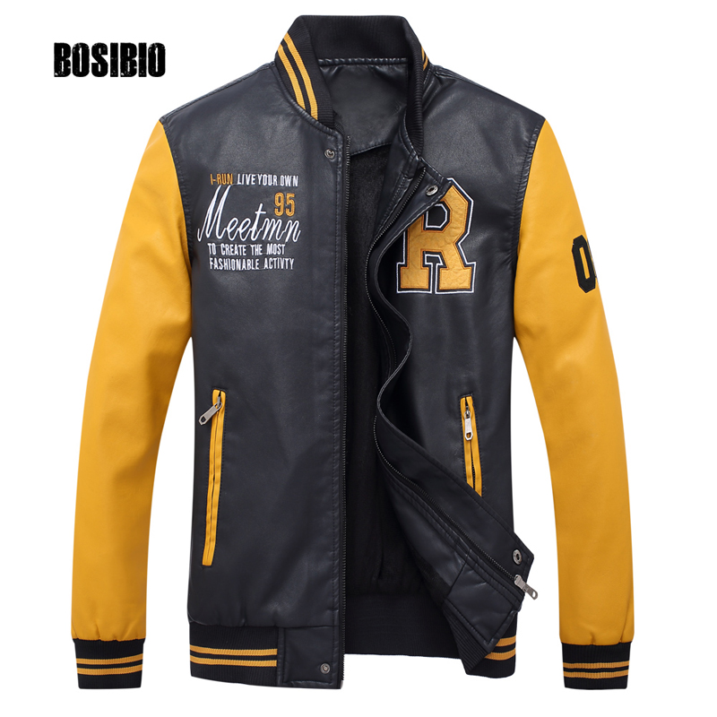 Spring Autumn Mens Motorcycle Leather Jacket Stand Collar Male PU Bomber Jacket Casual Coats 2017 new fashion Plus Size 3XL 8801 m 3xl hot 2018 spring men s new fashion conventional models slim collar pu leather jacket