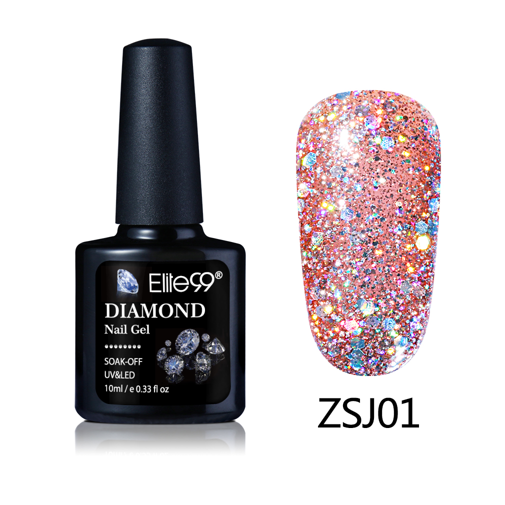 Elite99 Nieuwe Collectie 10 ml Diamond Glitter UV Gel Nagel Losweken ...