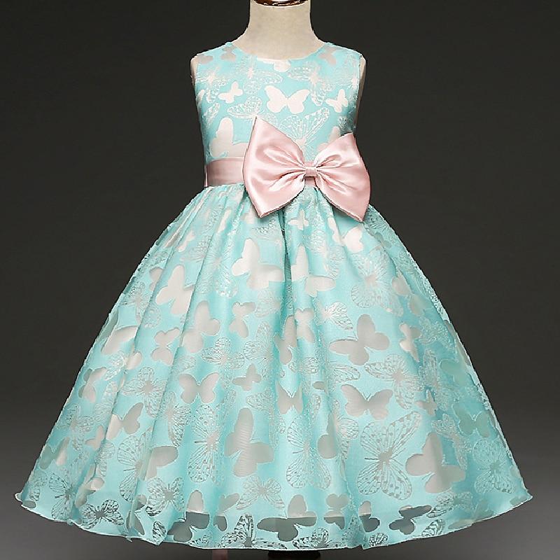2018 new summer Butterfly Kids   Girl   Wedding   Flower     Girls     Dress   Princess Party Pageant Formal   Dress   Prom Baby   Girl   Birthday   Dress