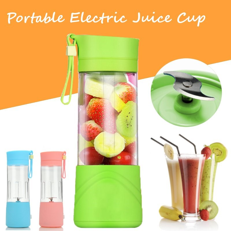 3 Colors Smoothie Maker Blender Shake And Take Juice Slow Juicer Mini Portable USB Rechargeable Electric