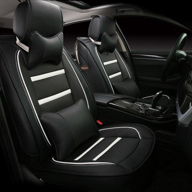 3d estilo tampa de assento do carro para honda civic crv accord crosstour fit cidade vfc vezel, alta-fibra de couro, carro-cobre