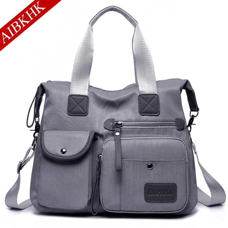 Multi layer Waterproof Nylon Women Shoulder Bags Casual Handbags Messenger Bags Crossbody Bags for Women 2019 Sac a Mian in Shoulder Bags from Luggage Bags
