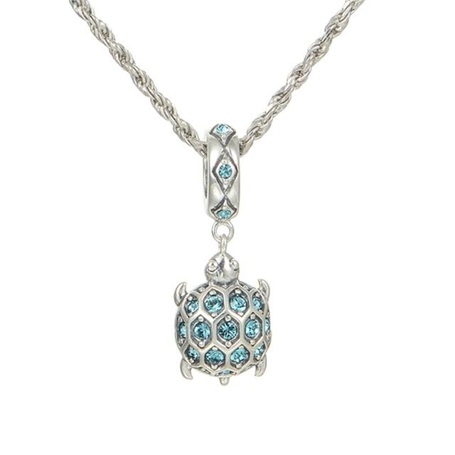 1d11154eb ... wholesale 925 sterling silver beads crystal sea turtle charm pendant  fits european pandora charms bracelet 01343 ...