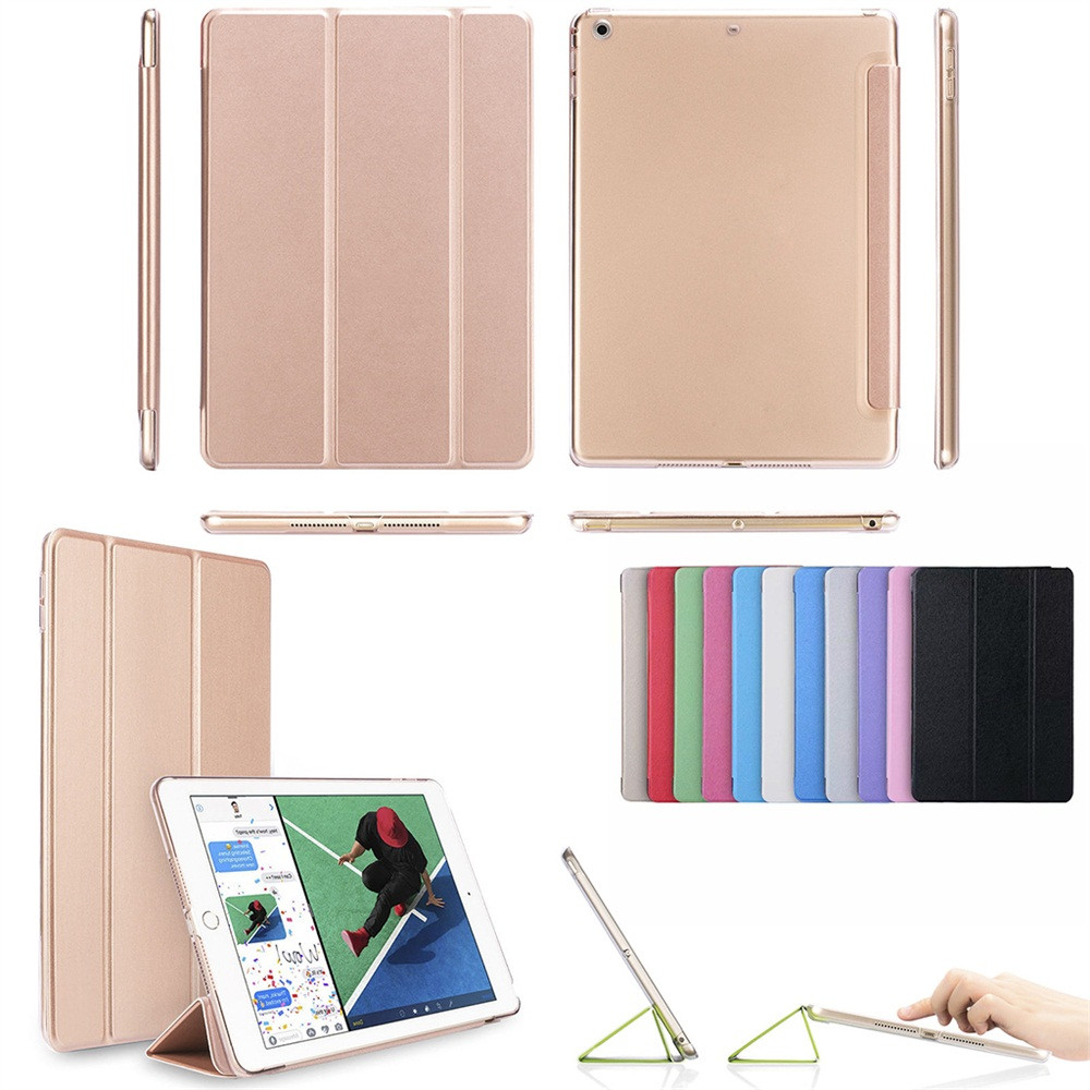 For iPad 6th Generation 2018 9.7 Slim Leather Smart Cover Case ForApple Stylish