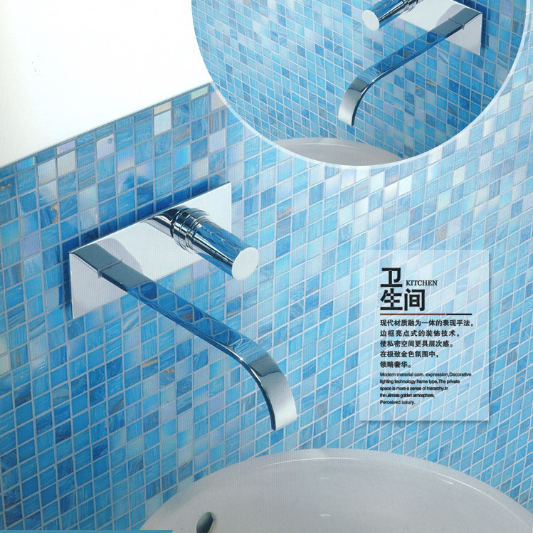 US $145.5 |Blue glass mosaic tiles glass swimming pool tile mosaic-in  Wallpapers from Home Improvement on AliExpress