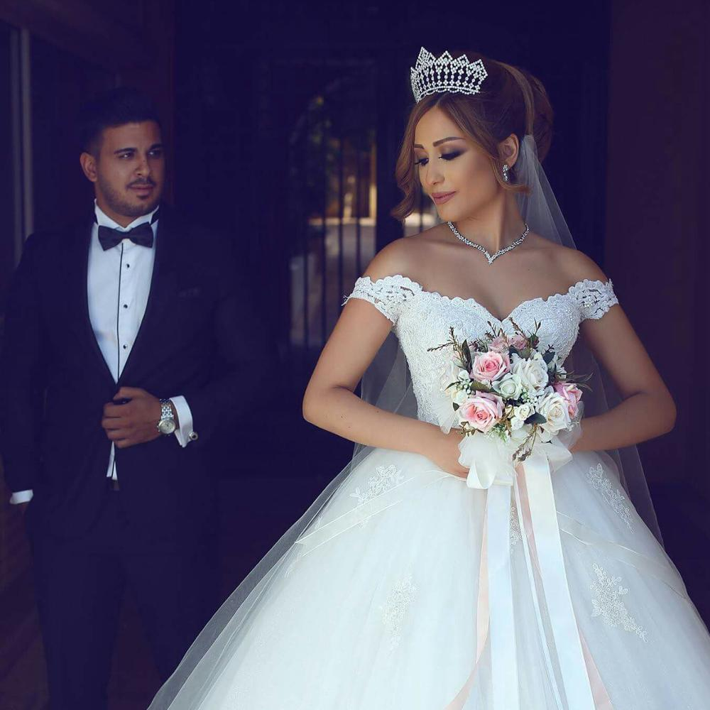 Princess Style Wedding Dress Off The Shoulder Straps Bridal Gown Dresses For Bride Superbweddingdress