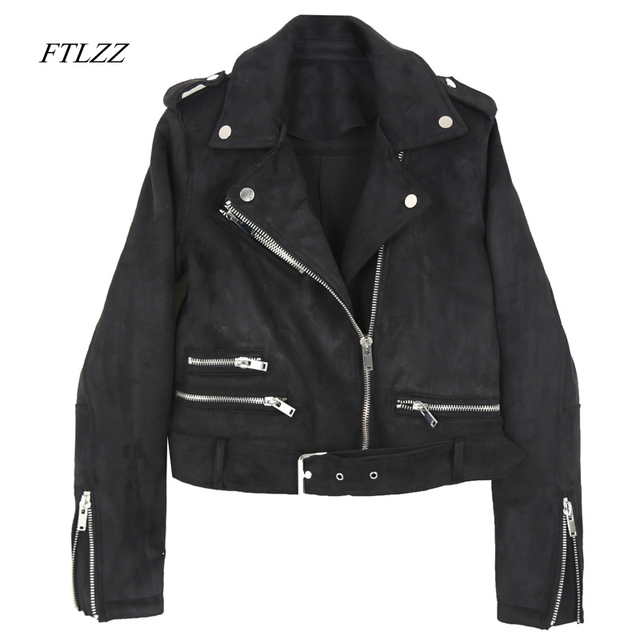 US  35.3 30% OFF Ftlzz Women Spring Pu Leather Jacket Bright Colors Vintage  Short Motorcycle Coat Fashion Black Soft Biker Jackets Female-in Leather    ... 5ee60cd5dd75