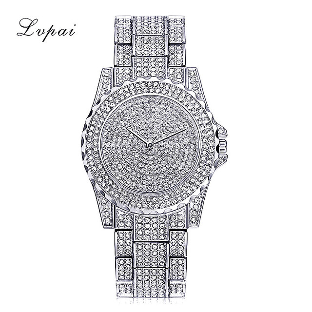 Lvpai 2018 Bling Watch Women Bracelet Brand Clock Womens Gold Ladies Watch With