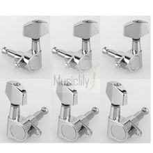 6Pcs / Set 3R3L Chrome Big Button Guitar Sealed String Tuning Pegs Keys Machine Heads Tuners For Epi Style