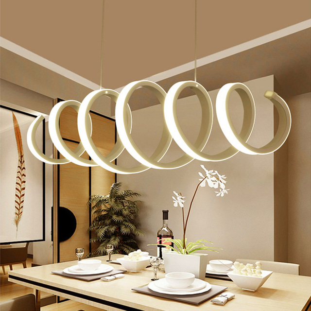 Modern Pendant Lamp Stepless Hang Lighting Dimming Pendant Lights with Fixtures for Living Room Kitchen Room