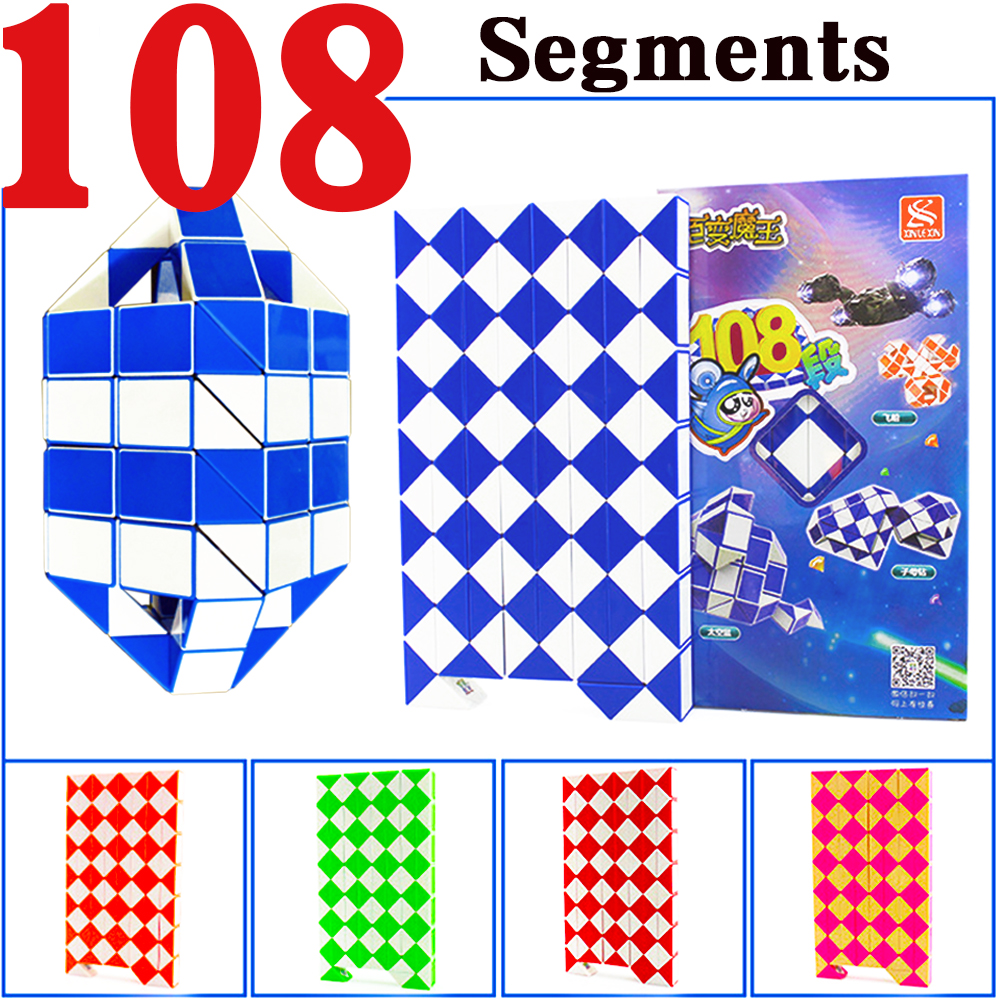 108 Segments pièces XINLEXIN Puzzle magique serpent Cubes jouet pour enfants Cube pliant Cubo Megico
