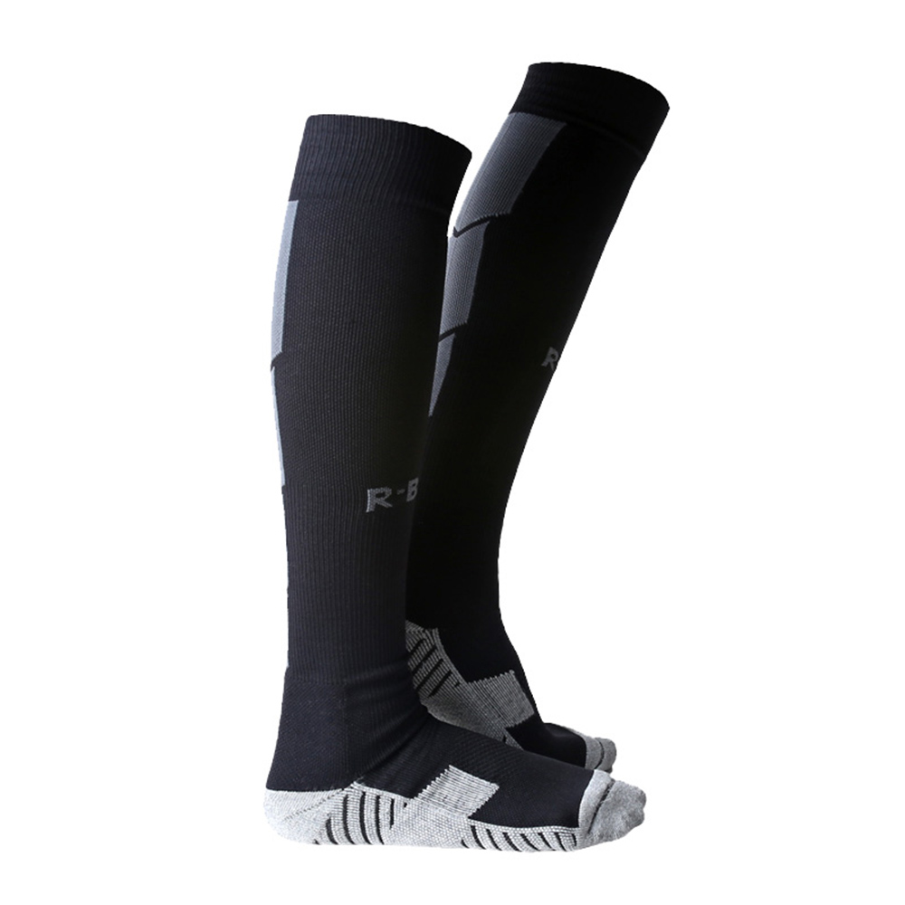 1 Pair of Non-slip Football Socks Adult Above Knee Long Loom Breathable Outdoor Sports Compression Socks