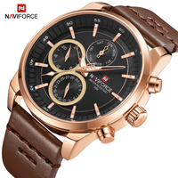 Naviforce Mens Business Casual Horloge Mannen Grote Wijzerplaat Waterdicht Quartz Horloge Mannelijke Datum Week Klok Horloges Relogio Masculino