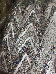 Image 2 - Модная африканская кружевная ткань для сексуального платья, нигерийская кружевная ткань, блестящая ткань