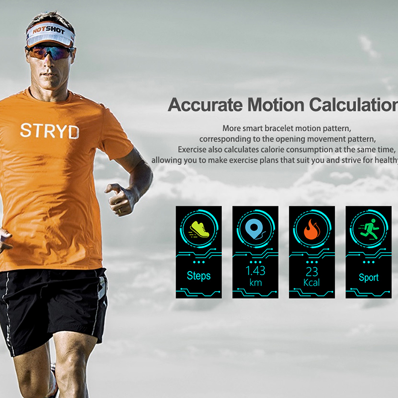 LIGE 2019 New Men Smar watch Blood pressure heart rate monitor basketball Fitness Tracker Sport Smart bracelet Reloj inteligente in Smart Wristbands from Consumer Electronics