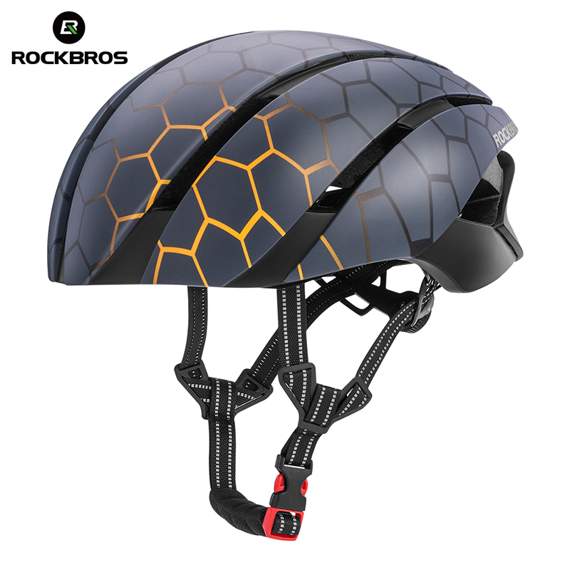 ROCKBROS Ultralight Cycling Bike Bicycle Helmet Integrally-molded Reflective Anti-seismic Safety Helmet Bike Equipment 57-62 CMROCKBROS Ultralight Cycling Bike Bicycle Helmet Integrally-molded Reflective Anti-seismic Safety Helmet Bike Equipment 57-62 CM