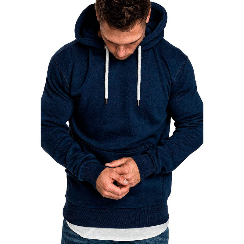 Hot Autumn New Hoodies Sweatshirts Brand Male Long Sleeve Top Solid Hoodie Pollovers Mens Black Red Big Size Poleron Hombre