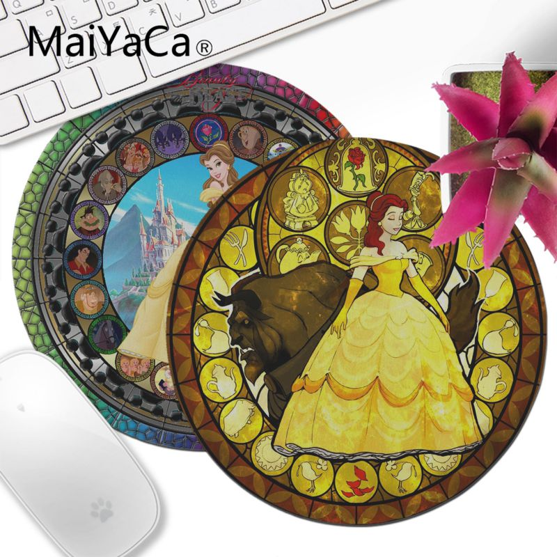 MaiYaCa Your Own Mats Beautiful Anime fairy tale stained glass princess Laptop Gaming Lockedge Mice Mousepad Customized MousePad