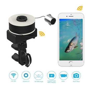 Smart Kingfishe Wifi Underwater Camera Portable Visual Fish Finder Smartphone Wireless Fishing IOS Android Fishhunter Fishfinder
