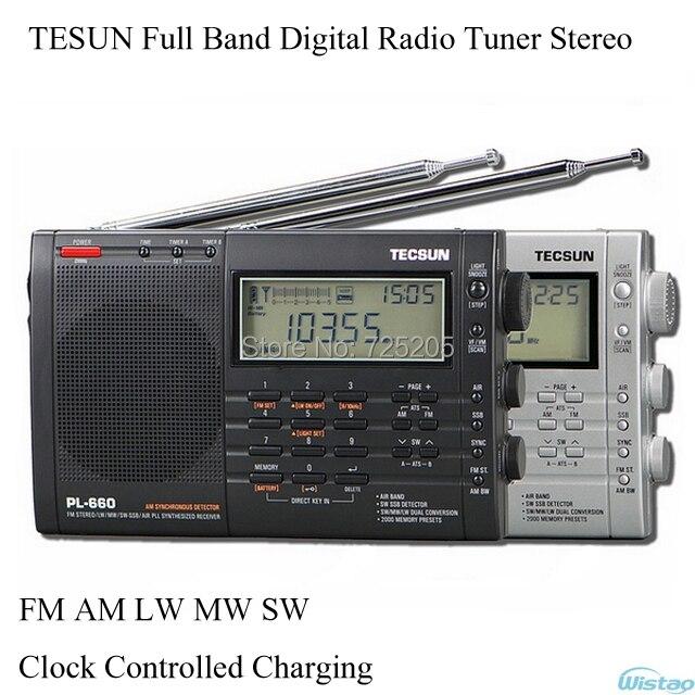 TESUN Полный Полосный Цифровой Радио Тюнер Тюнинг Стерео Часы Контролируемых зарядки FM AM LW MW SW Воздуха Батареи Аудио Бесплатная доставка