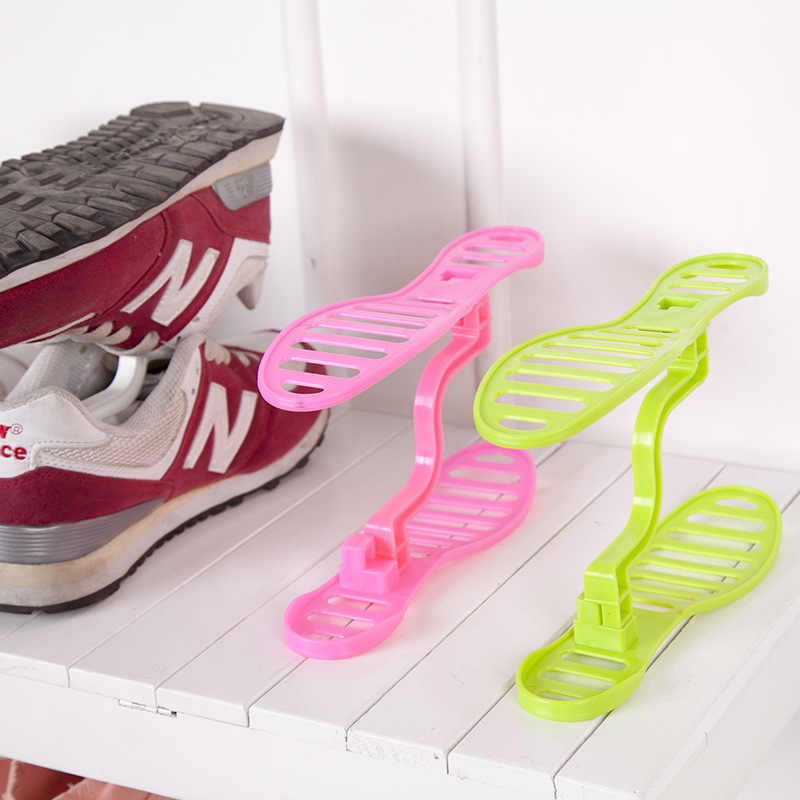 Modern Double Shoe Organizer Cleaning Shoe Rack Shoes Storage Plastic Living Shoes Organizers Shoebox Stand Shelf