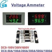 Бесплатная доставка Вольтметр Амперметр постоянного тока 0-50 а 100 А 300 а 600 А а Вольтметр Амперметр Вольт Панель Измеритель постоянного тока 0-...