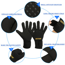 Goture Winter Outdoor Anti-slip Gloves Full Finger Waterproof Gloves L/XL for Fishing Cycling Hiking Climbing