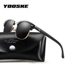 YOOSKE 2020 Polarized Sunglasses Women Men Classic Brand Designer Vintage Square Sun Glasses Driving Mirror UV400