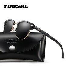 Gafas de sol polarizadas clásicas YOOSKE gafas de sol de marca Retro para  hombre gafas de sol de alta calidad para mujer c7066943a47d